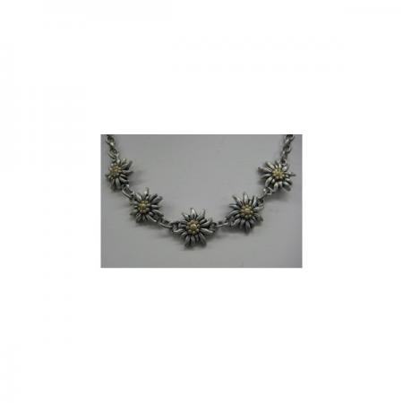 Edelweiss necklace with gold Center