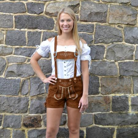 brown women's lederhosen