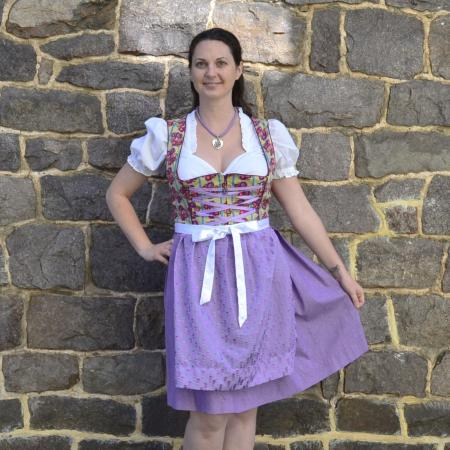 Purple Short Dirndl