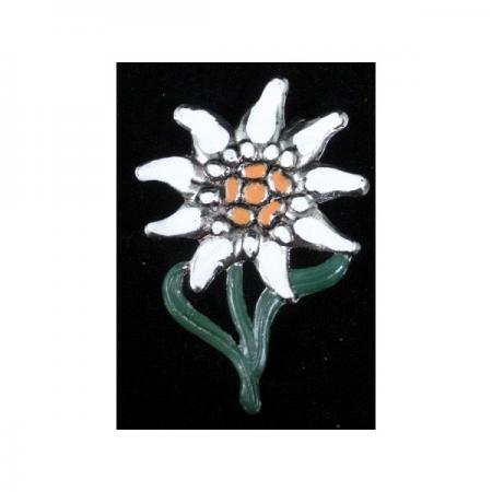 Painted edelweiss pin