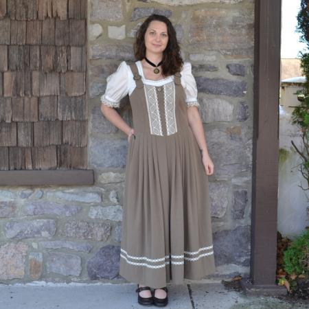 Tan german dirndl dress