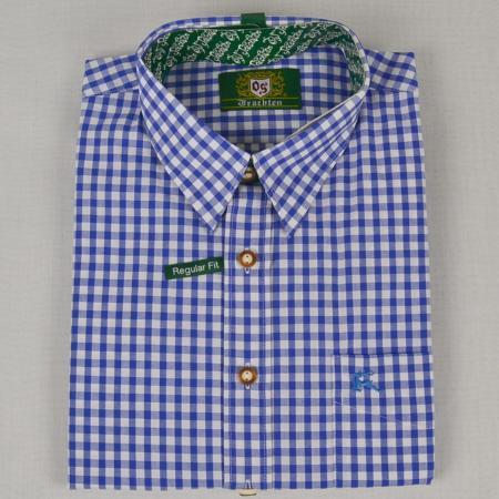 Blue Checkered Long Sleeve Shirt