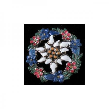 Painted flower pin