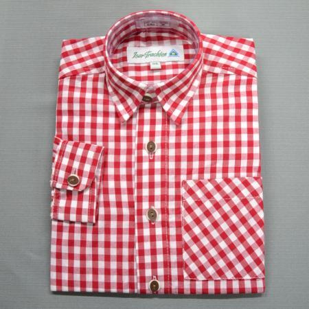 Boy's German red Checkered shirt