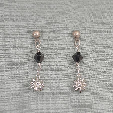 black jewel dangling earring