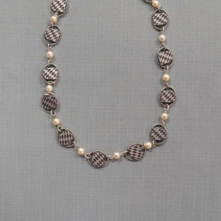 Bavarian Shield Pearl Necklace