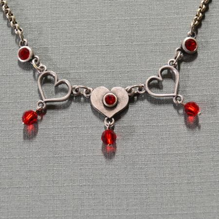 Triple Heart Dangling Necklace