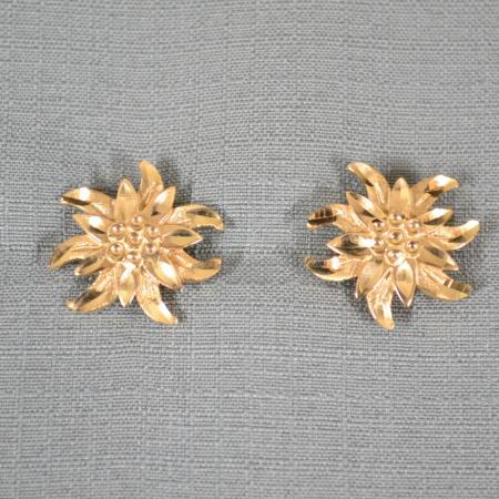 Gold Stud Edelweiss EarringsGold Stud Edelweiss EarringsGold Stud Edelweiss EarringsGold Stud Edelweiss Earrings