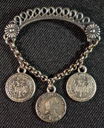 Dangling Coins Shawl Pin