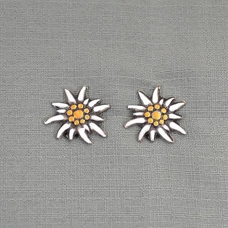 painted edelweiss earring