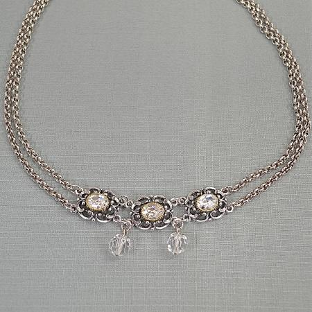 three stone necklace