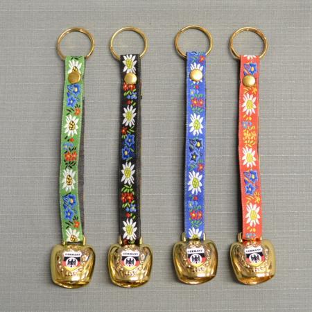 edelweiss bell keychain
