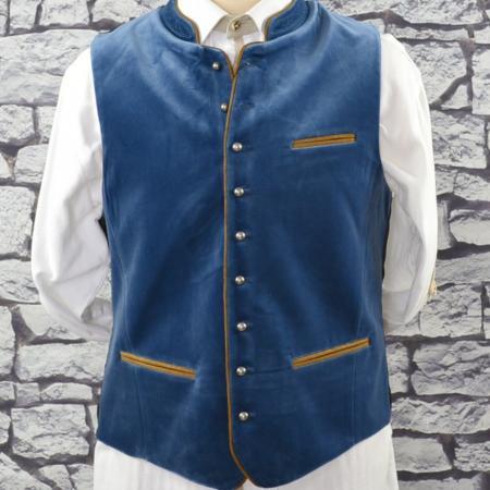 Smoke Blue Velvet Vest