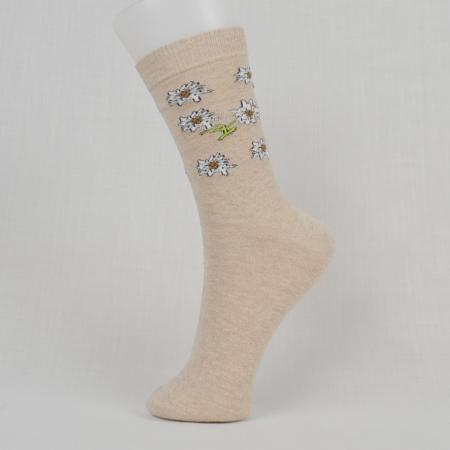 Edelweiss Socks- Brown