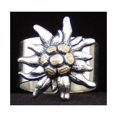 Large edelweiss tie ring