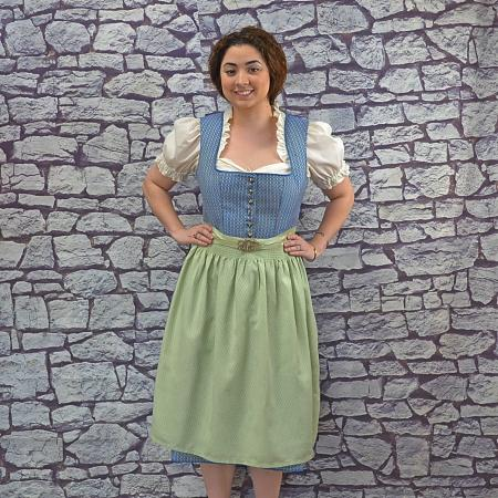green & blue dirndl