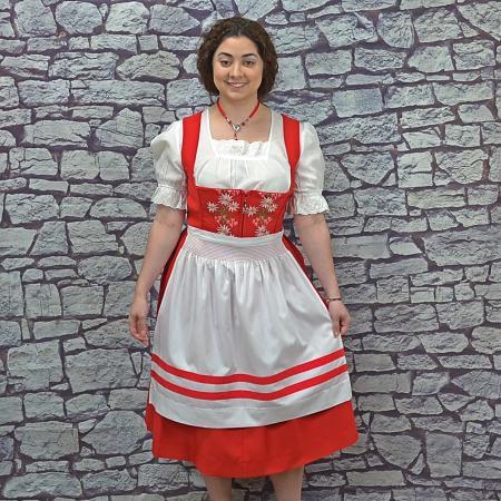 red waitress dirndl set
