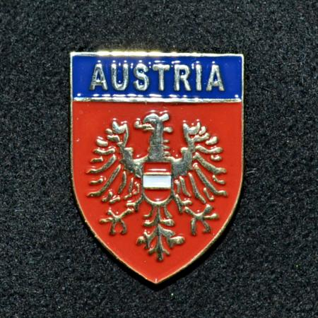 Austrian Shield Hat Pin
