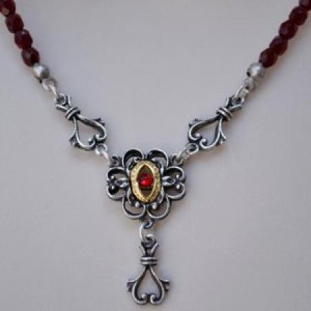 Bead Heart Flower Necklace