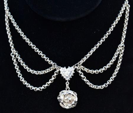 Rose Chandelier Necklace