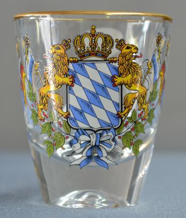 Bavarian Crest Shot Glass
