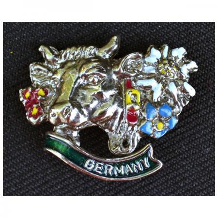 Painted Germany Steer Pin