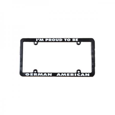 German- American License Plate Frame