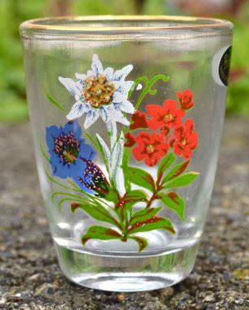 Alpine Flowers Shot Glass