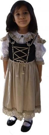 Black and Tan Dirndl -Sizes 1, 2, 3,14