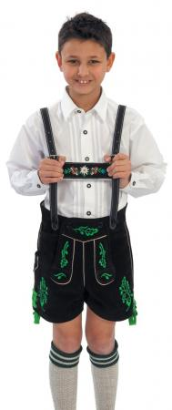 Boy's Style 11-2 USA made Black Cow Lederhosen