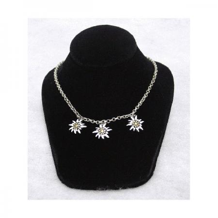 Painted Edelweiss Necklace