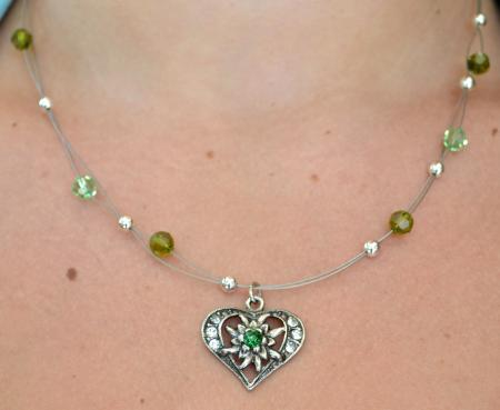 Edelweiss Heart Necklace