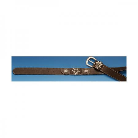 Ladies Brown Edelweiss Belt