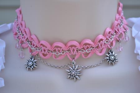 Pink Edelweiss Choker