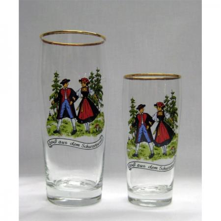 Black Forest Couple Beer Glass