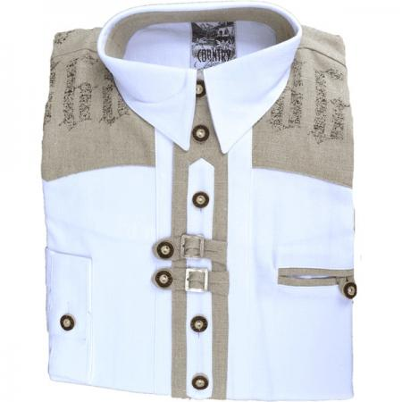 Men's White Trachten Shirt- 16.5 and 18 only
