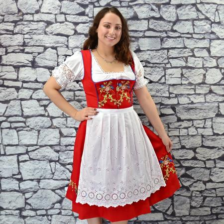 Red Floral Louise Dirndl