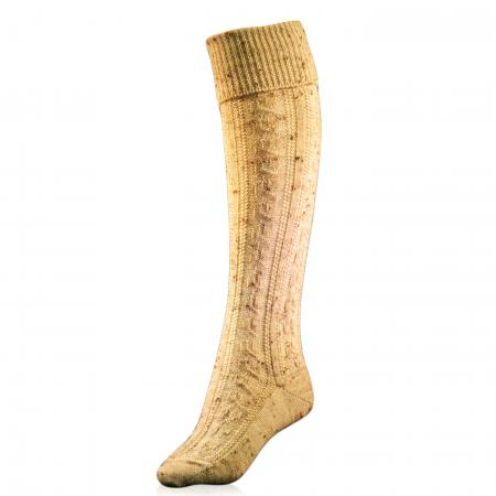 Beige Spotted Socks