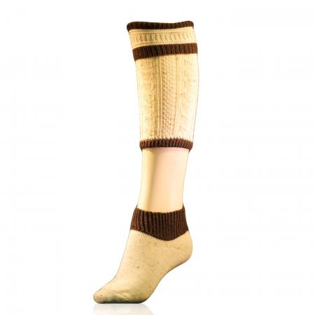 Beige and Brown 2-Piece Socks