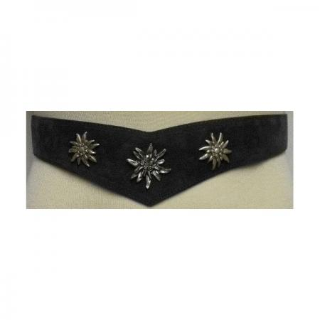 Ladies Belt with Three Edelweiss