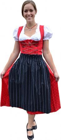 Black and Red Heidi Print Dirndl- size 4 MINI and 18