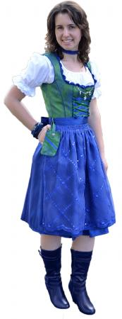Ladies Green and Blue Sequin Dirndl- size 6, 8, 12