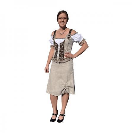 Knee Length Tan Women's Skirt
