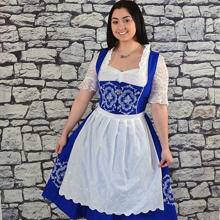 blue dirndl dress