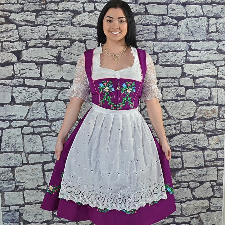 purple floral dirndl