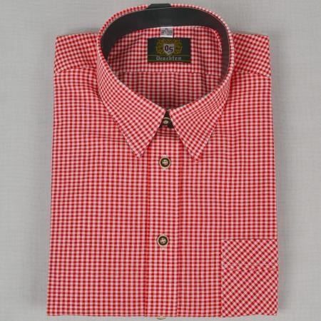 Long Sleeve Red Checkered Shirt - Small Checks