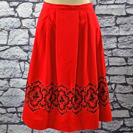 christl red skirt