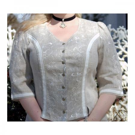 Women's 3/4 Sleeve Beige Imported Blouse-DISCONTINUED