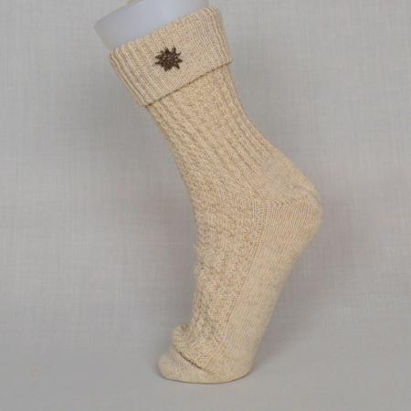 Ladies Beige Socks
