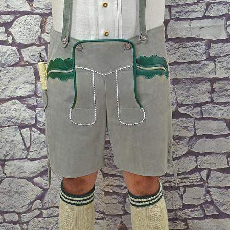 grey german lederhosen